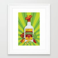 tequila Framed Art Prints featuring Tequila Time by Matt Andrews