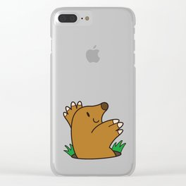 a Mole from the ground Clear iPhone Case
