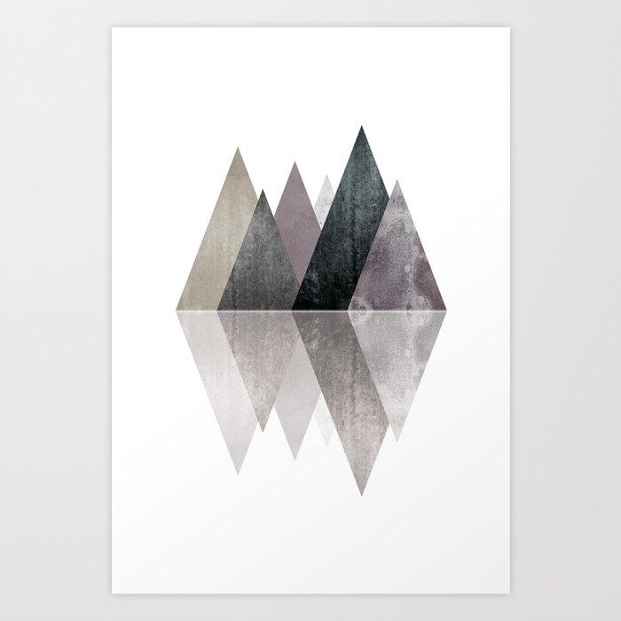 Modern Scandinavian Mountain Art Print