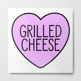 Love Grilled Cheese Metal Print