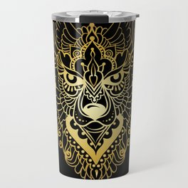 Tribal ethnic wolf Travel Mug