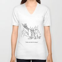 "lawyer V-neck T-shirts featuring ""One Hell Of A Lawyer"" by Bill Abbott Business Cartoons"