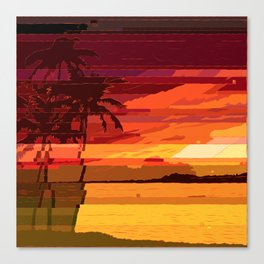Tropical Glitchset Canvas Print