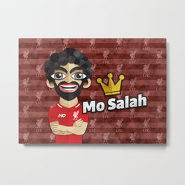 Mo Salah Metal Print