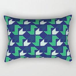 Clover&Nessie Denim/Spinach Rectangular Pillow