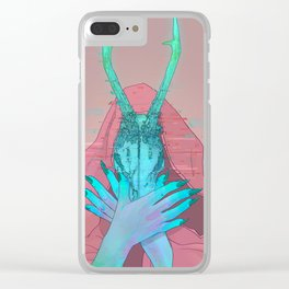 Goat Head Clear iPhone Case