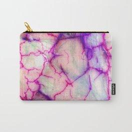 Hot Pink & Purple Veiny Quartz Carry-All Pouch