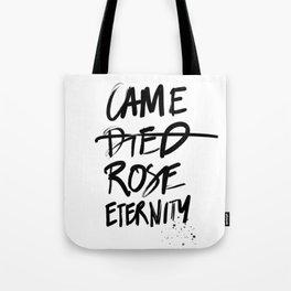 #JESUS2019 - Came Died Rose Eternity (black) Tote Bag