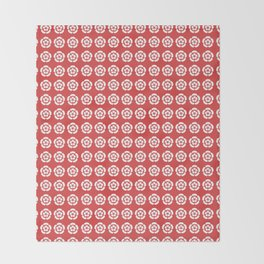 Oda Clan Samurai Pattern Throw Blanket