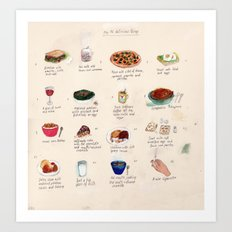Delicious Things Art Print