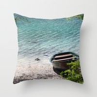 boat Throw Pillows featuring Boat by L'Ale shop