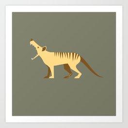 EXTINCT: Thylacine (Tasmanian Tiger) Art Print