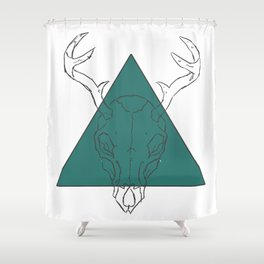 skull of the woods Shower Curtain