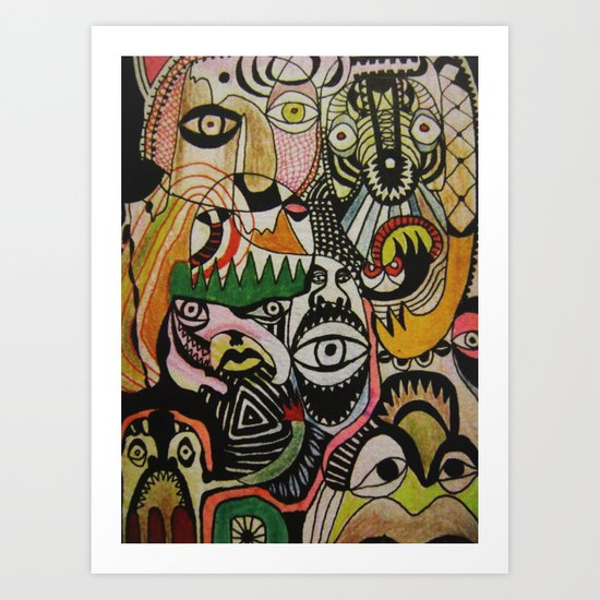 jungle boogie Art Print