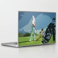 golf Laptop & iPad Skins featuring GOLF by aztosaha