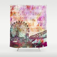 sydney Shower Curtains featuring Sydney Luna Park  by LebensART