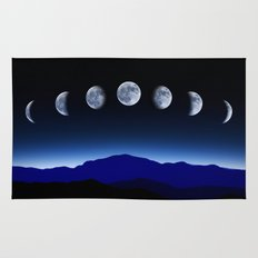 Moon Phases #blue Rug