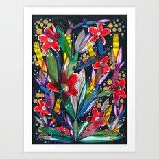 November flowers Art Print
