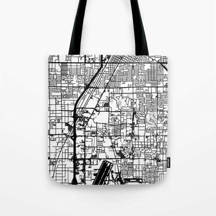 Las Vegas city map Tote Bag