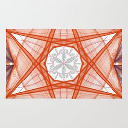 Elegant Design Rouge Star Fan Rug