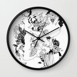 Caught In-Between Wall Clock