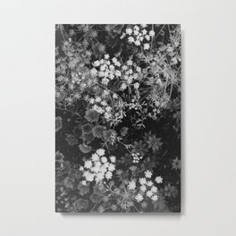 The Flowers (Black and White) Metal Print