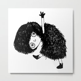 Dancing Girl Metal Print