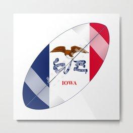 Iowa State USA Football Flag Metal Print