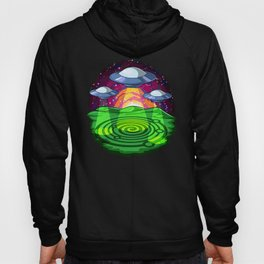 Alien Abduction Crop Circles Hoody