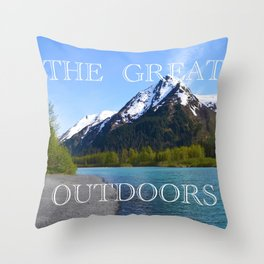 The Great Outdoors!! Throw Pillow