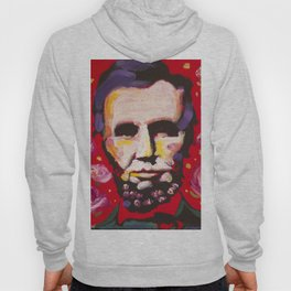 Abraham Lincoln Floral Portrait Hoody