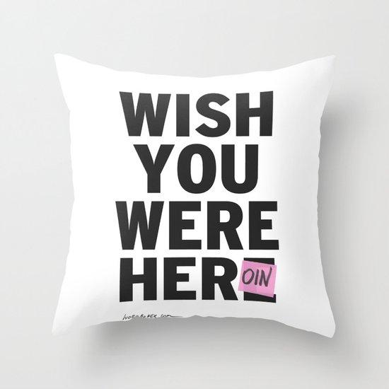 Heroin Throw Pillow