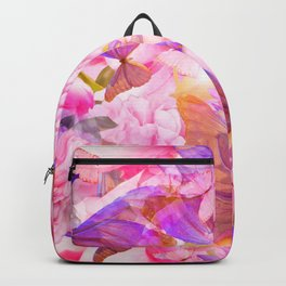 A Summer Dream Where Pink And Violet Butterflies Flying #decor #society6 #pivivikstrm Backpack