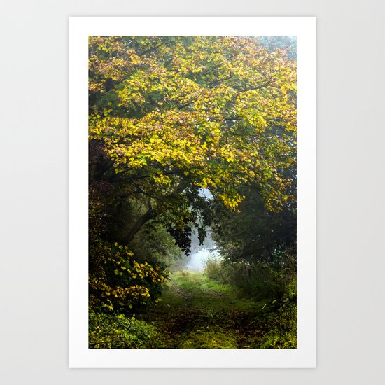 An Autumn  Lane Art Print