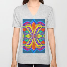 Pop Art Scarab Unisex V-Neck