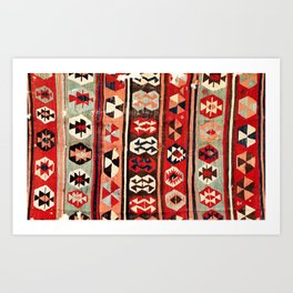 Mut  Antique Mersin Turkish Kilim Print Art Print