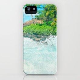 Aloha mai e Pā'ako Beach Mākena Maui Hawaii iPhone Case