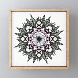 Anemone Mandala  Framed Mini Art Print