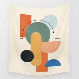 Geometric Color Play 01 Wall Tapestry