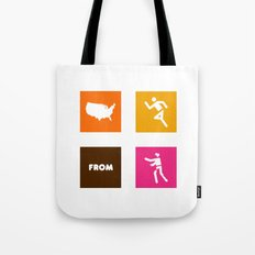 America Runs From Zombies Tote Bag