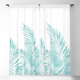 Palm Leaves Island Paradise Blackout Curtain