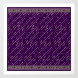 Arrows Flying (Purple) Art Print