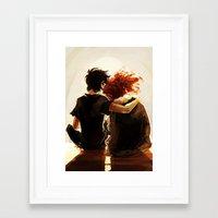 viria Framed Art Prints featuring hey brother by viria