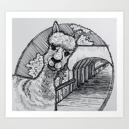 Vermont? Alpaca my bags. Art Print