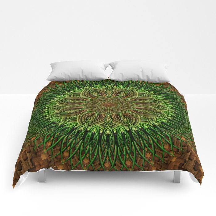 Earth Flower Mandala Comforters
