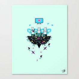 The Social Butterflies Canvas Print