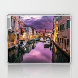 Venice Italy Canal at Sunset Photograph Laptop & iPad Skin