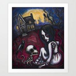 A Zombie's Best Friend Art Print