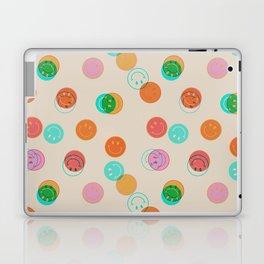 Smiley Face Stamp Print Laptop & iPad Skin