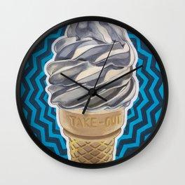 Ice Cream Soft-Serve Cone Wall Clock